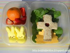 Easter Bento Lunch in Easylunchboxes!