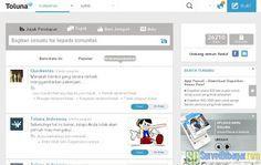 Menu komunitas pada  Menu komunitas pada dasbor akun paid survey Toluna Indonesia | SurveiDibayar.com