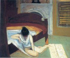 Summer interior, Whitney Museum of American Art, New York City - by Edward Hopper - USA Famous Art Paintings, Modern Art Paintings, Museum Of Modern Art, Art Museum, Edward Hopper Paintings, Morning Sun, Les Oeuvres, Oil On Canvas, Artwork