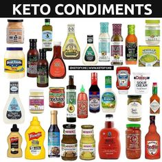 "Best Keto Program on Instagram: "". ⭐️ KETO CONDIMENTS ⭐️ This is making rounds so I decided to post it with a little update 😂 Keto food doesn't have to be bland! Here are…"""