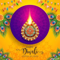 Illustration about Happy Diwali festival card with gold diya patterned and crystals on paper color Background. Illustration of ceremony, happiness, editable - 126122452 Happy Diwali Images Hd, Happy Diwali Pictures, Happy Diwali Wallpapers, Diwali Greetings, Good Night Greetings, Diwali Flowers, Happy Dussehra Wallpapers, Diwali Wishes Quotes, Diwali Festival Of Lights