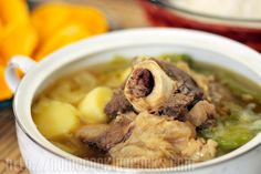 This bulalo recipe was originally published in December 19, 2003. I am updating it because during our recent visit to Mahogany meat market in Tagaytay City, as I watched the butcher chop the whole beef shank that I had chosen, I realized that the secret to prevent the bone marrow from falling and liquefying in …