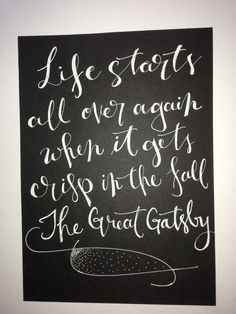 The Great Gatsby quote on 5 x 7 inch card stock by InkandPenShop