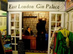East London Gin Palace, creator of Mother's Ruin Gin. This tiny shop is based at Wood Street Market in Walthamstow. Its design is a cheeky reinterpretation of 18th century gin palaces.