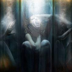 Phobic by Christian Martin Weiss © Website / deviantART (Please leave links & credit … Ƹ̴Ӂ̴Ʒ) Dark Photography, Underwater Photography, Portrait Photography, Underwater Drawing, Mystique, Phobias, Art Portfolio, Black Art, In This World