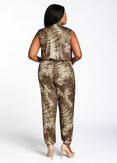 Plus Size Apparel » NOTABLE FASHIONS Ashley Stewart Web Exclusive: Animal Print Jumpsuit $24.49  Find @ www.notablefashions.com