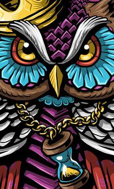 Owl King on Adobe Illustrator Draw