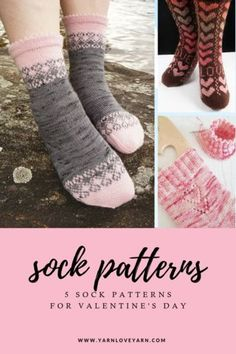 Ravelry 5 heart themed sock patterns perfect for celebrating February! Knitting Patterns, Crochet Patterns, Crochet Backpack, Knitting Socks, Knit Socks, Quick Knits, Holiday Crochet, Hand Dyed Yarn, Ravelry