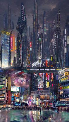 Shibuya, Tokyo 2100 x – Cyberpunk Gallery Cyberpunk Aesthetic, Cyberpunk City, Arte Cyberpunk, Futuristic City, Futuristic Technology, City Aesthetic, Futuristic Architecture, Technology Gadgets, Technology Apple