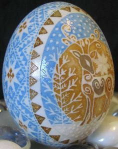 Etched Duck Egg Pysanka by Katrina Lazarev | PYSANKY-Eastern Europe...