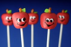 "I'm having these made into ""brownie pops"" for the kids to bring on Meet the Teacher Night.  I figure ""bownie"" points can't hurt :)"