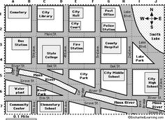 practice maps for kids | City Map Reading Activity #1 - City Map Reading Activity #2 :
