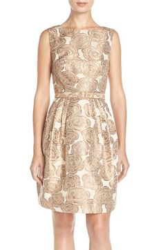 Eliza J Floral A-Line Dress available at #Nordstrom