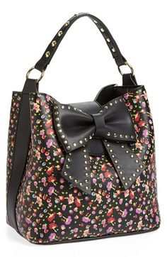 Betsy Johnson Bucket Bag. Love floral patterns for spring!