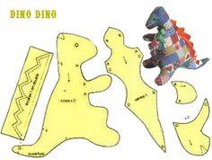 doudou dinosaure free - Chez 123 Doudous - fantastique site de ressources. Merci !!