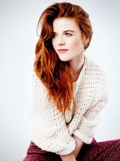 Rose Leslie. I saved this for her beautiful red colour. Mine's not long, but if it were, I'd love it to be like this.