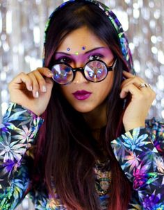 Kaleidoscope glasses by h0les eyewear
