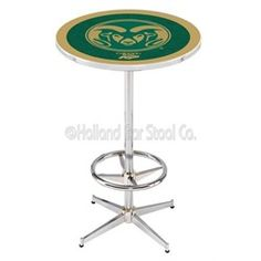 Colorado State Rams Chrome Pub Table With Foot Rest