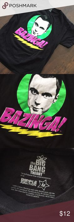 The Big Bang theory bazinga t shirt 👕 Excellent condition size m tee shirt purple junction Shirts Tees - Short Sleeve