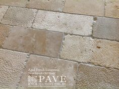 Pavé Tile, Wood & Stone, Inc. > Aged French Limestone and Belgium Bluestone: François' Edited Aged French Limestone Collection