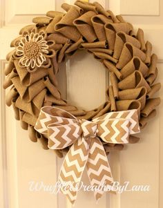 Burlap Summer Wreath, Burlap Petal Wreath, Burlap Wreath, Front Door Wreath, Everday Wreath by WruffleWreathsbyLana on Etsy
