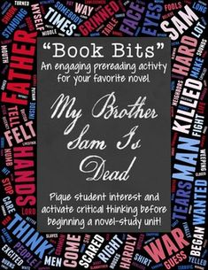 My brother sam is dead novel study 4th and 5th pinterest book bits a fun pre reading activity for my brother sam is dead fandeluxe Choice Image