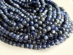 Sodalite Stone Natural Blue Sodalite Rondelle by gemsforjewels