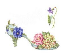 Resultado de imagen de flores con brillo animada