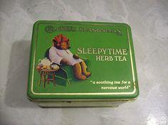 Vintage 1982 Celestial Seasoning Tea Tin Sleepy Time Boulder Colorado | eBay
