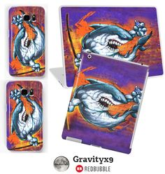 Graffiti Shark Electronic Care by #Gravityx9 Designs Redbubble - Samsung Galaxy, iPhone,iPad,Laptop Cases/Skins - Click through to see all the products available with this Graffiti Shark