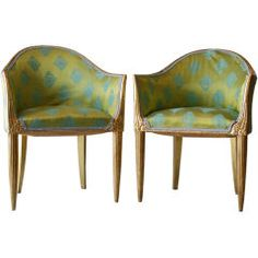 French Art Deco Armchairs by Paul Follot