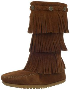 9569f7e4f1b Minnetonka 3 Layer Fringe Boot (Toddler Little Kid Big M US Big Kid  Layers  of fringe extend from knee to ankle in this zestful boot for kids.