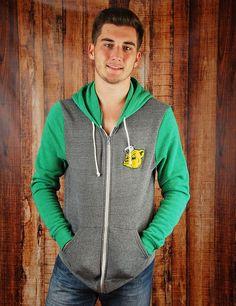 Baylor Sailor Bear green/grey sweater