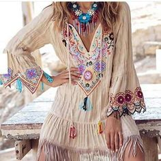 Beautiful, bright, BOHO! ღ Awesome fashion clothes for stylish women from Zefinka.