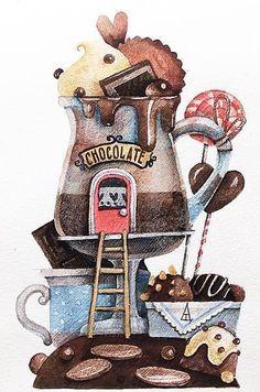 """1,307 Me gusta, 39 comentarios - Tonia Tkach (@tonia_tkach) en Instagram: """"☕️шоколад ☺️! Всем сладкого понедельника). Если у вас припрятана конфета, тайком подложите ее…"""""""