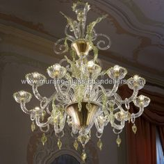 San Severo gold and green Murano glass chandelier  San Severo gold and green Murano glass chandelier fantastic example of best italian glassmaking tradition. See prices and specifications at http://bit.ly/1CC1J2W  #Murano #Muranoglass #art #interiordesign #homedecor #Italy #Venice  The post San Severo gold and green Murano glass chandelier appeared first on Murano Glass Chandeliers Blog.