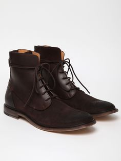 Maison Martin Margiela 22 Men's Waxed Suede and Leather Boot