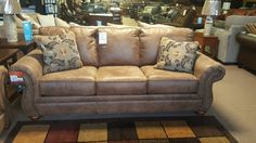 Larkinhurst Earth Sofa by Ashley Furniture is only $598 at Quality Bedding and Furniture in Orange Park. Quality Bedding and Furniture features a great selection of quality living room furniture. #Livingroomfurniture #ashleyfurniture #qualityfurniture #sofas www.qualitybeddingfurniture.com