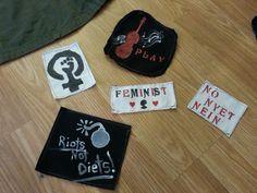DIY Punk Patch Feminist