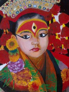 kumari(living goddess) - Painting by Ujool Ujwal in My Projects at touchtalent 70716