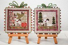 Petits Moutons de saison automne hiver | really cute cross stitch ornaments on this site