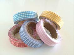 Fabric tape cuadros vichy