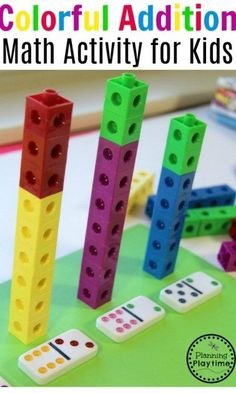Addition Activity with Dice and Cubes