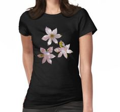 Spring Pink blossom branch Women's T-Shirt by #PLdesign #FlowerGift #spring #blossoms