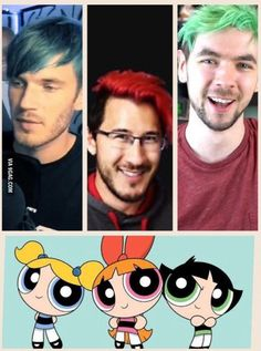 Felix, Mark and Sean are the powerpuff girls, it's confirmed.