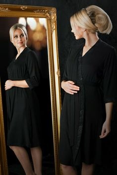 6cfc626157d Indulgence Collection by MamaMoosh - Maternity and Breastfeeding Dressing  Gown in Black Nursing Nightwear