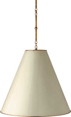 goodman hanging lamp  - Hand-Rubbed Antique Brass inside w/Antique white outside shade   $840
