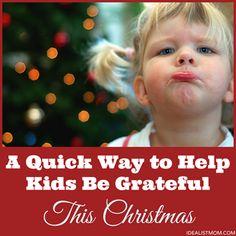 free printable to help kids be more grateful this Christmas