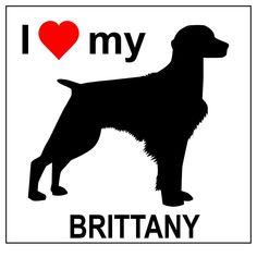 "Amazon.com - ""I love my BRITTANY"" (SPANIEL) magnet. -"