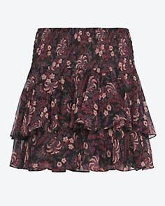 Twelfth Street by Cynthia Vincent EXCLUSIVE Printed Ruffle Mini Skirt